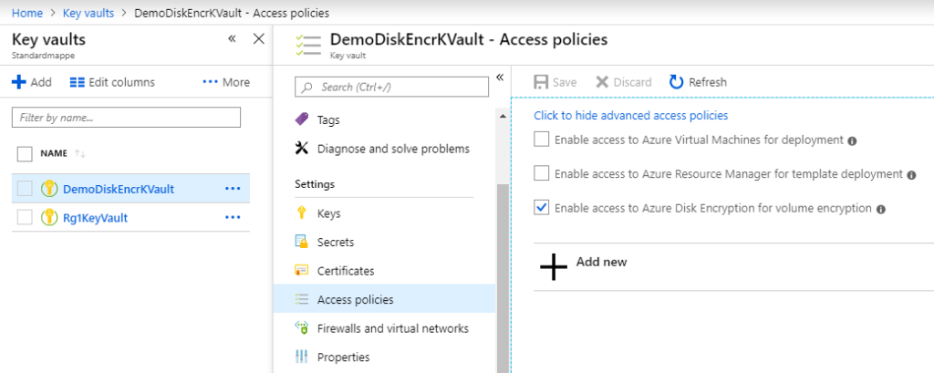 Enabling access to Azure Disk Encryption for volume encryption
