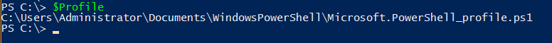 Looking up the filepath for the PowerShell Profile